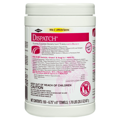 Buy Dispatch Hospital Cleaner Disinfectant Towels with Bleach 150 Count, 8/Case online used to treat Surface Disinfectant Cleaner - Medical Conditions