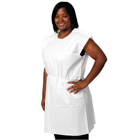 Disposable Patient Examination Gowns White 50/Case for Isolation Gowns by Pro Advantage | Medical Supplies