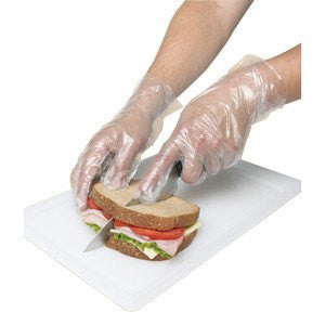 Disposable Polyethylene Food Service Poly Gloves Box of 1000 for Disposable Gloves by Rensow | Medical Supplies