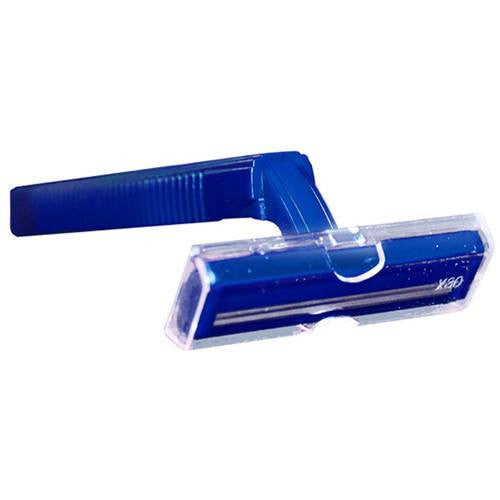 Twin-Blade Disposable Razors, Blue 100/Box