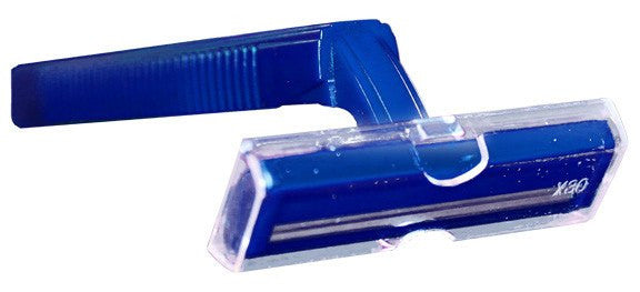 Twin-Blade Disposable Razors, Blue 100/Box - Natural Disaster Response Supplies - Mountainside Medical Equipment