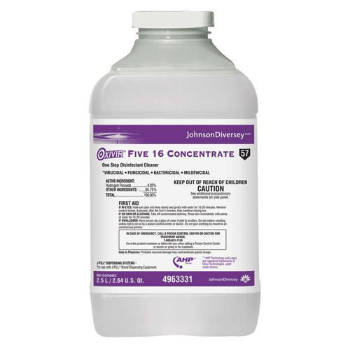 Buy Diversey Oxivir Five 16 Concentrated Disinfectant Cleaner 2.5 Liters, 2/Case online used to treat Disinfectant Solution - Medical Conditions