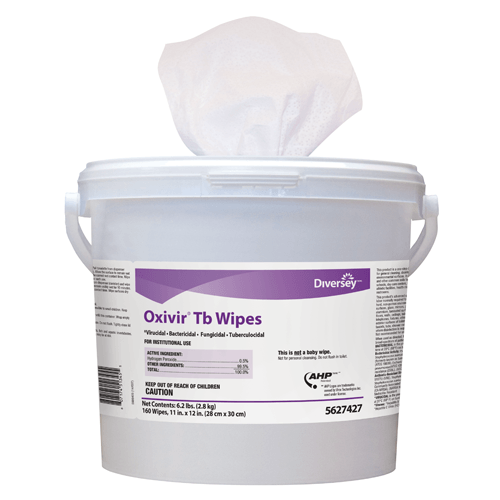 Buy Diversey Oxivir TB Hard Surface Disinfectant Wipes, 160 Canister 4/Case online used to treat Surface Disinfectant Cleaner - Medical Conditions