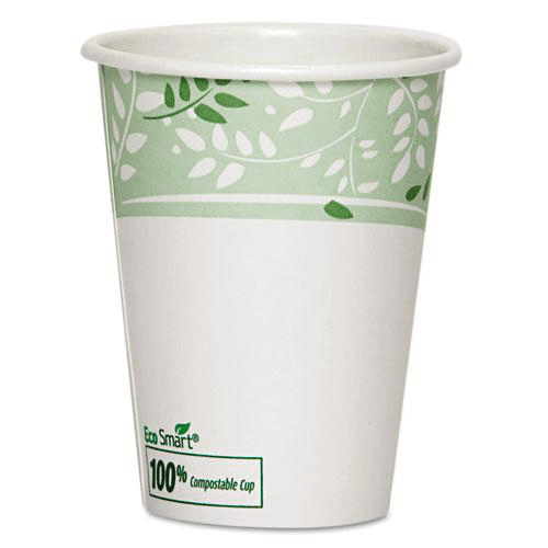 Dixie EcoSmart Paper Hot Cups, 16 oz Leaf Design 1,000/Case