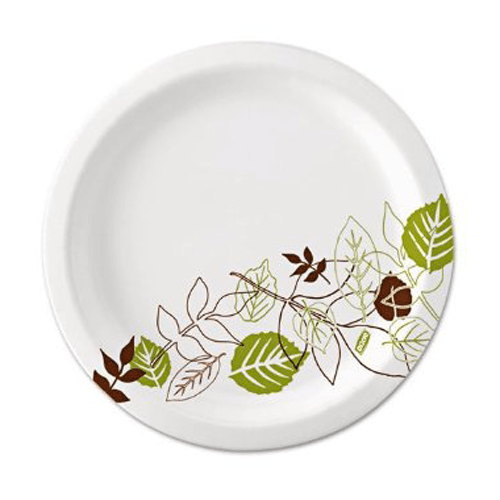Dixie Pathways Paper Plates, Leaf Design, 500/Case