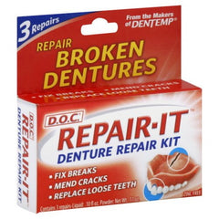 Buy DOC Repair-It Denture Repair Kit online used to treat Personal Care & Hygiene - Medical Conditions