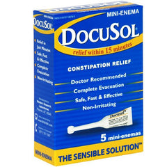 Buy Docusol Mini Enema for Constipation Relief 5-Pack online used to treat Enemas - Medical Conditions