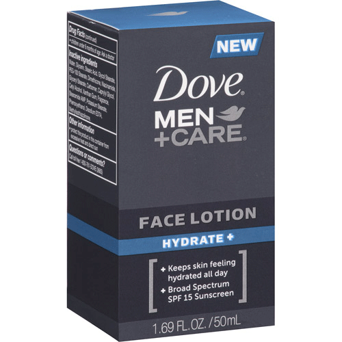 Buy Dove Men+Care Hydrate Face Lotion with SPF 15 Sunscreen Builtin online used to treat Mens Facial Lotion - Medical Conditions