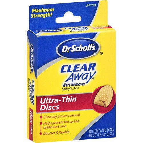 Dr Scholls Clear Away Wart Remover Ultra Thin Discs