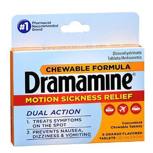 Dramamine Chewable Tablets for Motion Sickness Relief