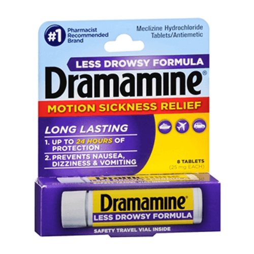 Dramamine Less Drowsy Motion Sickness Tablets