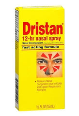 Buy Dristan 12-Hour Nasal Decongestant Relef Spray, 0.5 oz used for Allergies by Wyeth Pfizer
