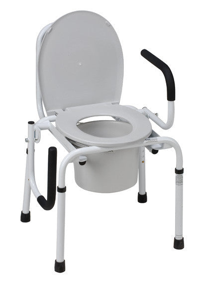 Steel Drop Arm Commode