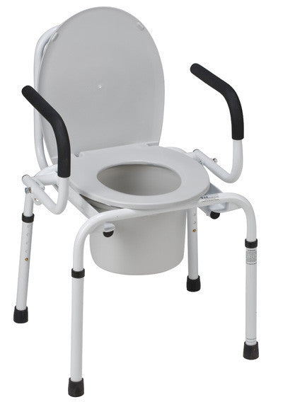 Steel Drop Arm Commode - Commodes - Mountainside Medical Equipment