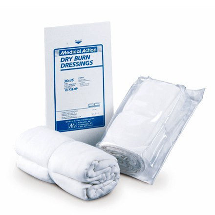 Medical Action Dry Burn Dressing 18 x 36, White, Sterile