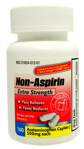 Acetaminophen Caplets - Pain Relief - Mountainside Medical Equipment