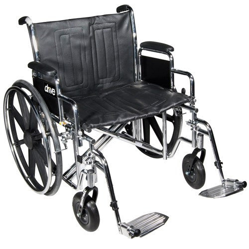 Sentra EC Heavy Duty Dual Axle Bariatric Wheelchair - Bariatric Wheelchair - Mountainside Medical Equipment