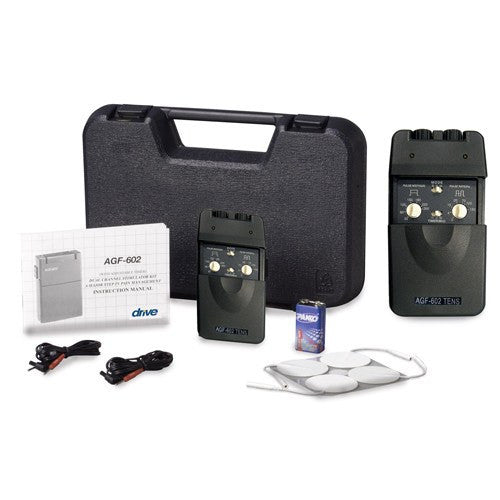 Dual Channel Tens Unit with Timer, Electrodes & Carrying Case