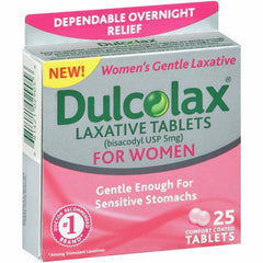 Dulcolax Laxative Tablets for Women 25 Count for Laxatives by Rochester Drug | Medical Supplies