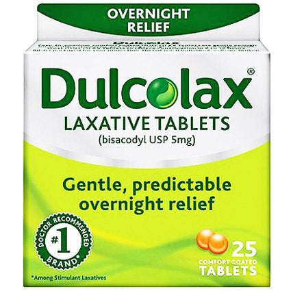 Dulcolax Gentle Overnight Relief Laxative, Easy-to-Swallow Tablets