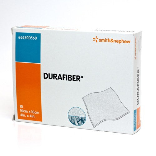 Durafiber AG Silver Gelling Fiber Dressings 4 x 4 (10/box) - Wound Care - Mountainside Medical Equipment