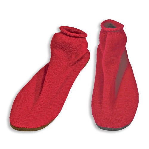 Dynarex Hard Sole Non Skid Slippers Red Small