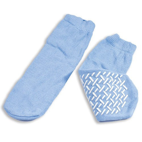 Dynarex Non Skid Slipper Socks Large Sky Blue