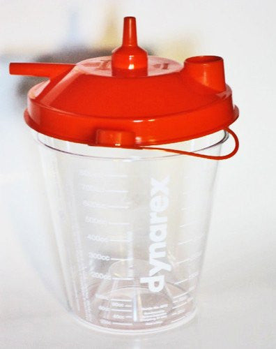 Dynarex Hi Flow Suction Canister 800cc - Suction Canisters - Mountainside Medical Equipment