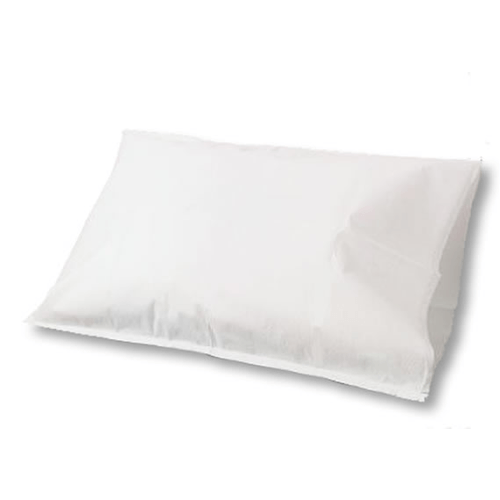 100 Disposable Pillow Cases Tissue/Poly 2-Ply White