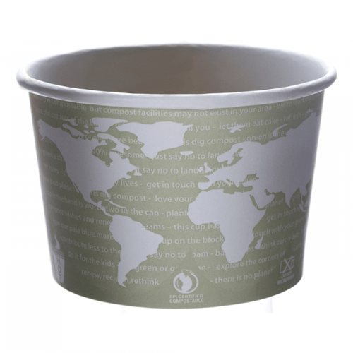Eco-Products World-Art Design Soup Cup 16 oz Grey/White 500/Case
