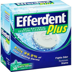 Buy Efferdent Plus Anti-Bacterial Denture Cleanser Tablets by MedTech online | Mountainside Medical Equipment
