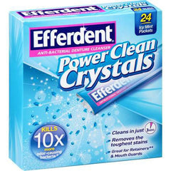 Buy Efferdent Power Clean Crystals Anti-Bacterial Denture Cleaner Packets by MedTech from a SDVOSB | Denture Care
