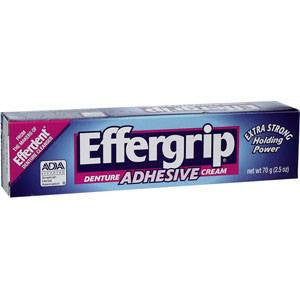 Buy Effergrip Denture Adhesive Cream by Johnson & Johnson from a SDVOSB | Denture Care