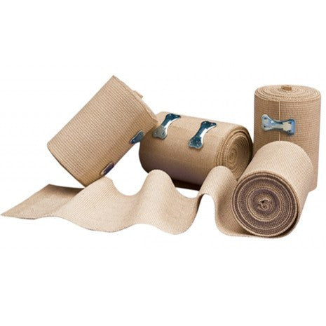 Elastic Wrap Bandage with Metal Clips - Coban Wrap - Mountainside Medical Equipment