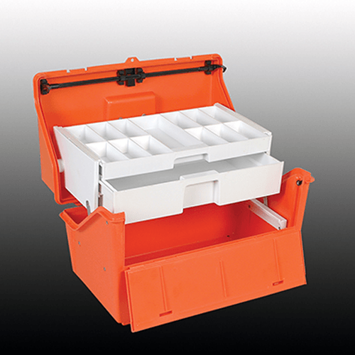Pharmacy Emergency Lock Box with Two Sliding Drawers