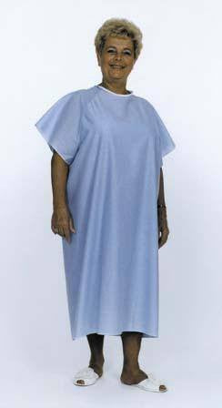 Buy Reusable Hospital Gown Light Blue online used to treat Exam Gowns, Capes, Etc. - Medical Conditions