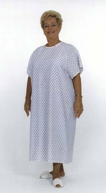 Buy Hospital Gown Light Blue Pattern by Essential from a SDVOSB | Exam Gowns, Capes, Etc.