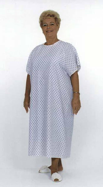 Hospital Gown Light Blue Pattern
