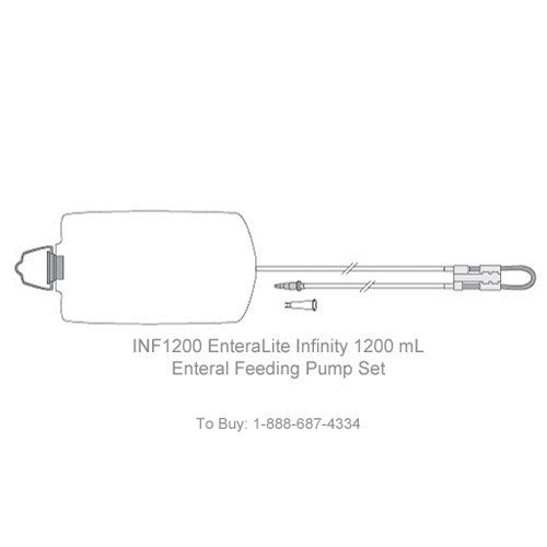 EnteraLite Infinity 1200mL Enteral Pump Delivery Set - Feeding Bags & Syringes - Mountainside Medical Equipment