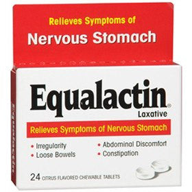 Equalactin Chewable Laxative Tablets Citrus Flavor 24/Box for Laxatives by Numark Laboratories | Medical Supplies