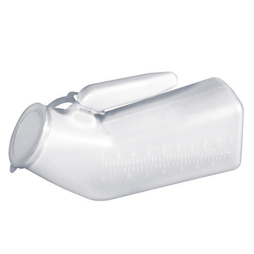 [price] Essential Male Urinal with Cover used for Bed Pans and Urinals made by Essential [sku]