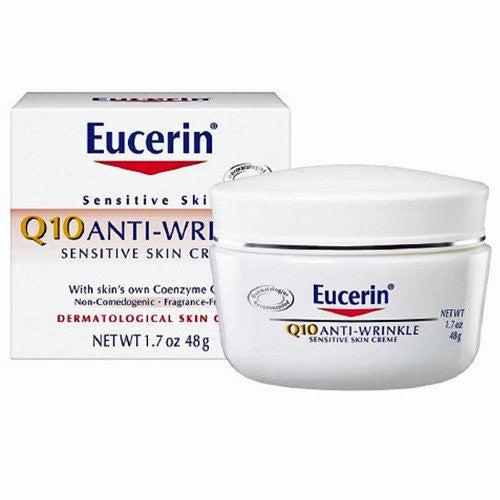 Buy Eucerin Q10 Anti-Wrinkle Sensitive Skin Cream online used to treat Beauty Products - Medical Conditions
