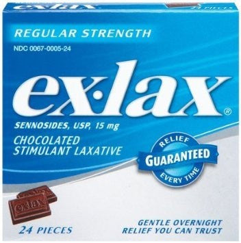 Ex-Lax Chocolate Stimulant Laxative 24 Pieces