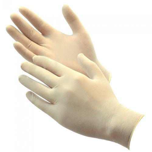 Latex Gloves Powder Free 100/Box