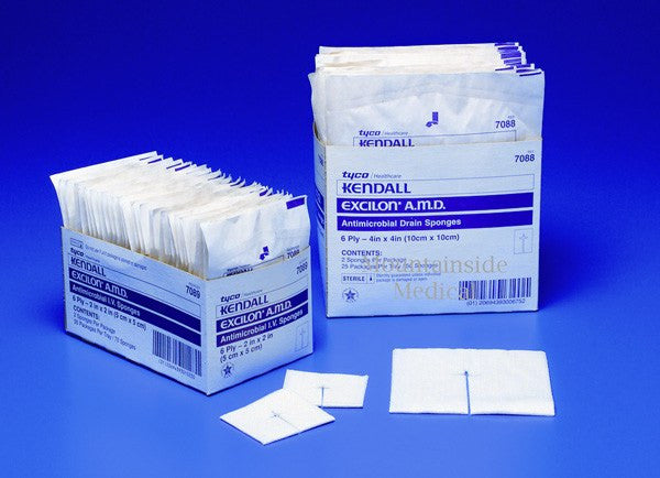 Buy Excilon AMD Drain Sponges 4 x 4 online used to treat Trach Care Products - Medical Conditions