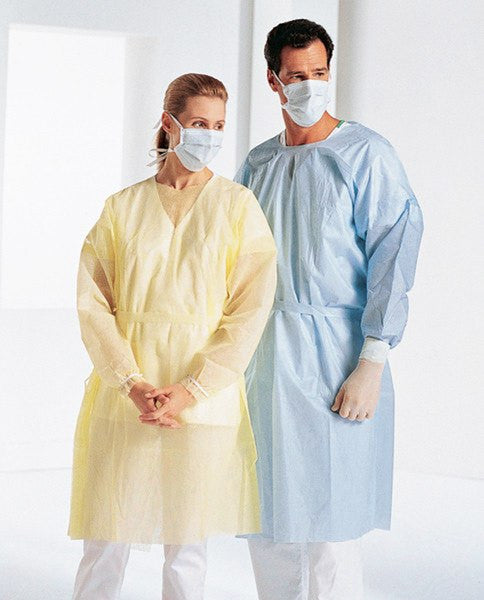 Buy Extra Large Isolation Gowns, Yellow 50/Case by Pro Advantage from a SDVOSB | Isolation Supplies