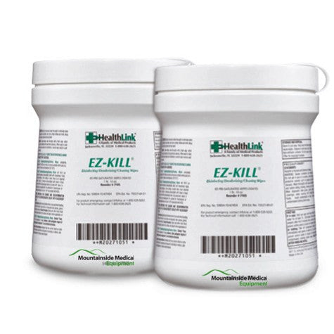EZ-Kill Disinfectant & Deodorizing Hard Surface Wipes 160/Canister, 12/Case