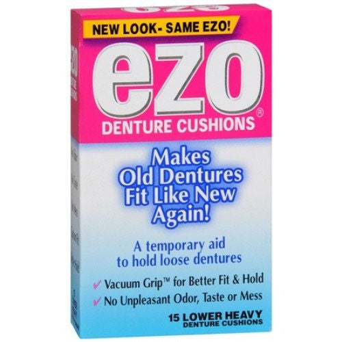 Ezo Heavy Lower Denture Cushions for Denture Care by MedTech | Medical Supplies