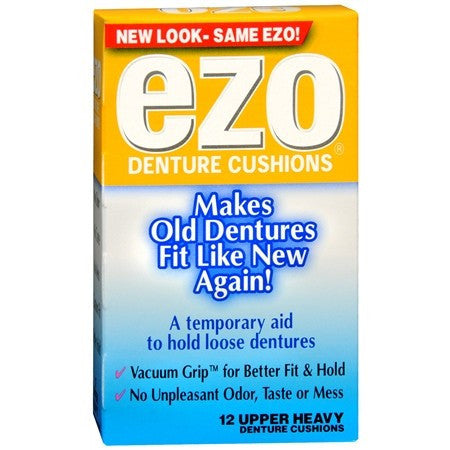 Ezo Heavy Upper Denture Cushions for Denture Care by MedTech | Medical Supplies