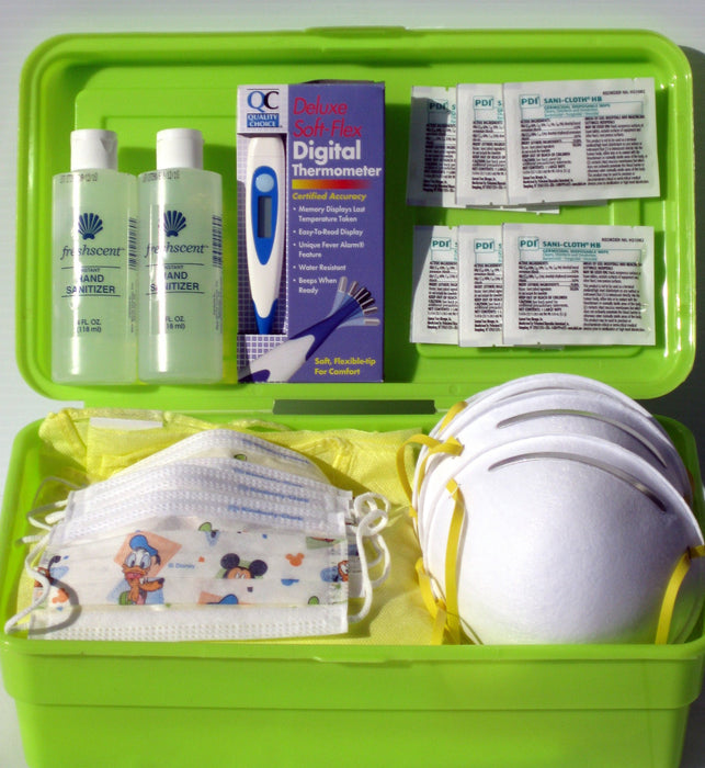 Buy Pandemic Swine Flu Family Protection Kit with Childrens Masks online used to treat Cold and Flu - Medical Conditions